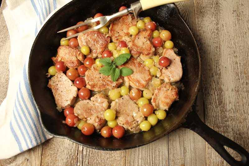Pork Tenderloin with Grapes 3