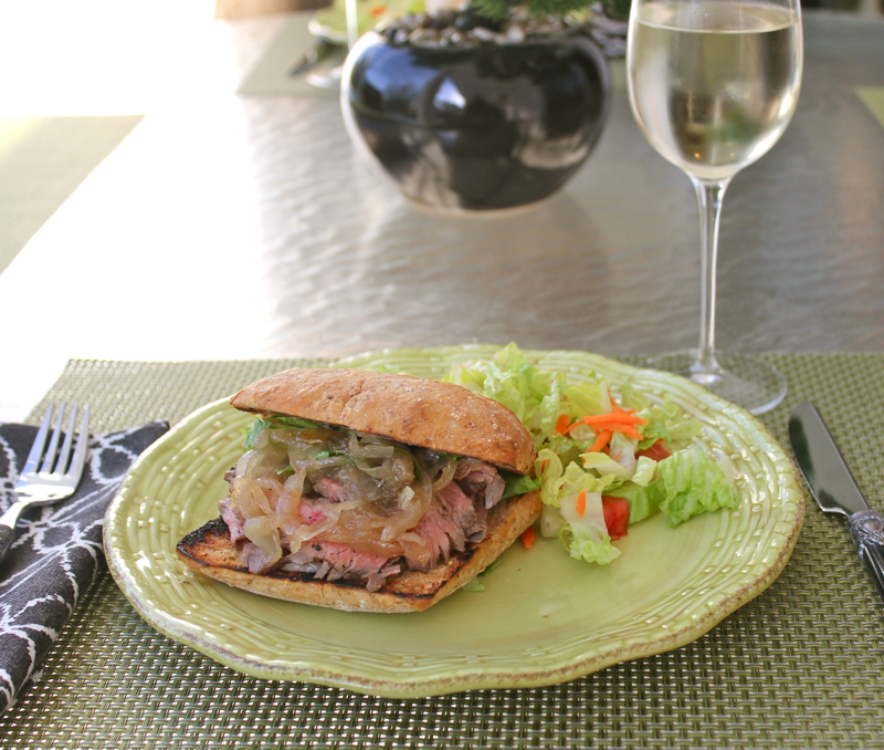 Flank steak sandwich 4