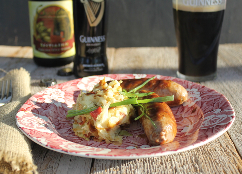 Guiness Sausage and Colcannon 1