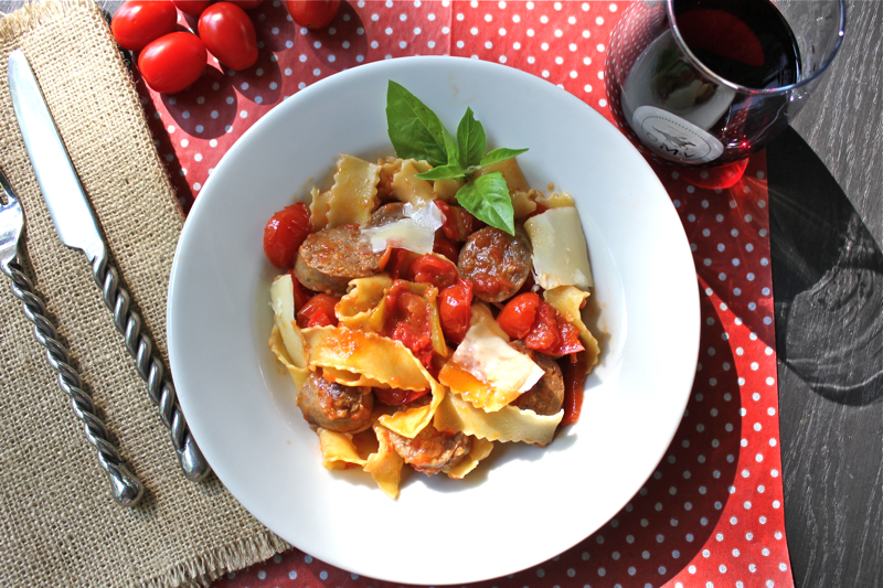 Sausage and Red Pepper Pasta 2