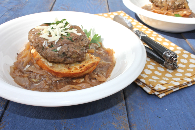 French Onion Salisbury Steak 3 close