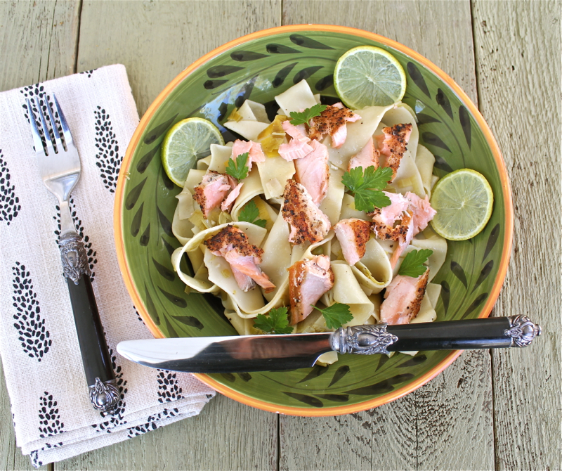 Pappardelle with Salmon and Leeks 1