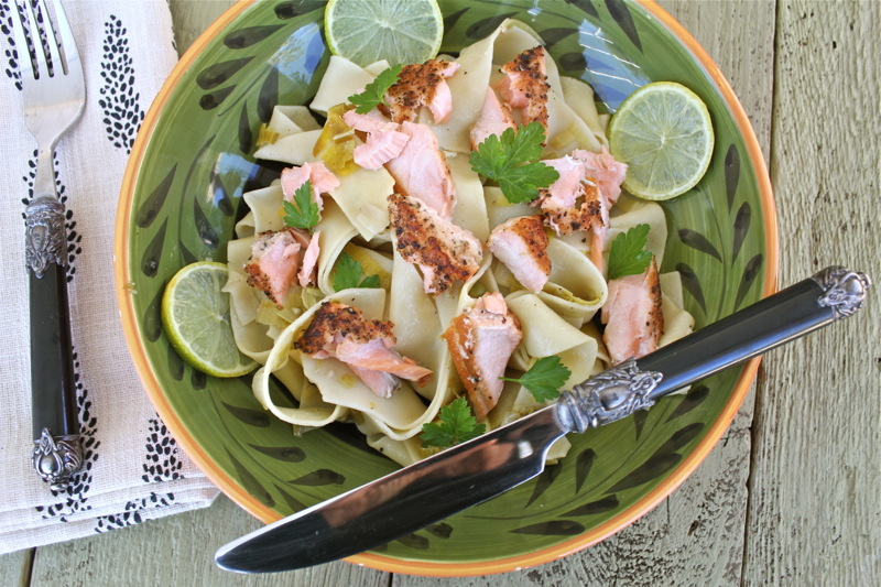 Pappardelle with Salmon and Leeks 3