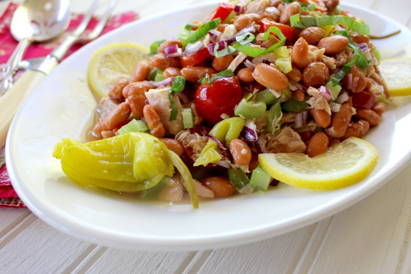 Pinto Bean and Tuna Salad Close