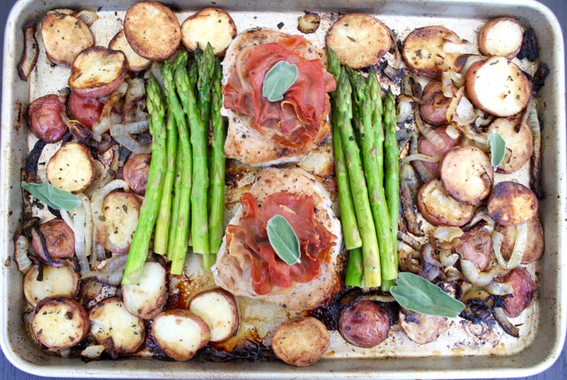 Sheet Pan Pork Saltimbocca 1