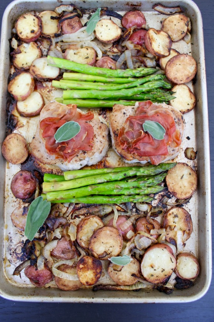 Sheet Pan Pork Saltimbocca 2V