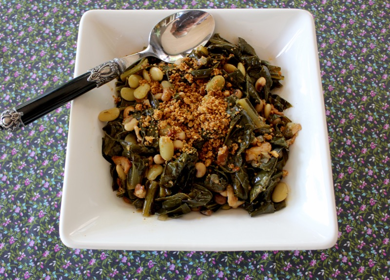 Smoky Tangy Greens and Beans 1