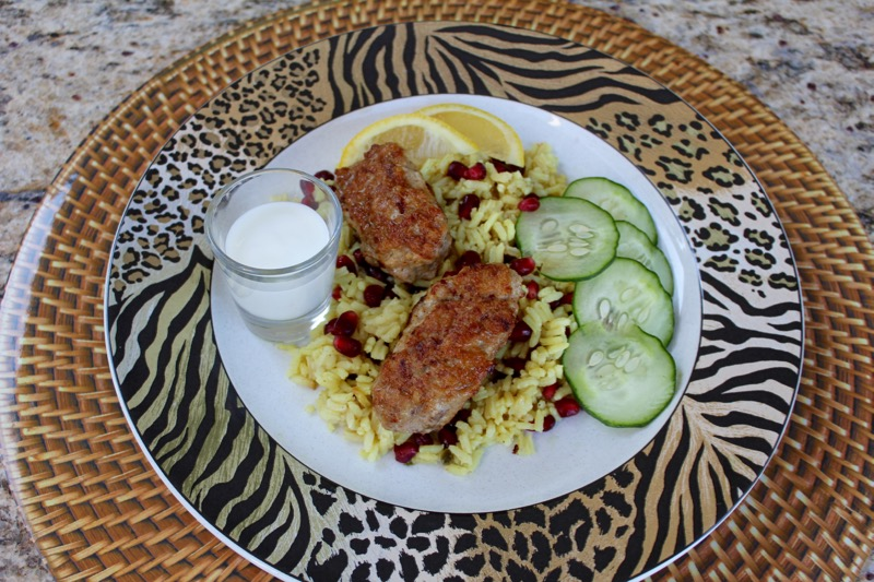Chicken Kofta with Pomegranate Rice