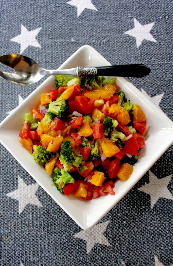 Orange, Tomatoe, Broccoli Salad Alternate